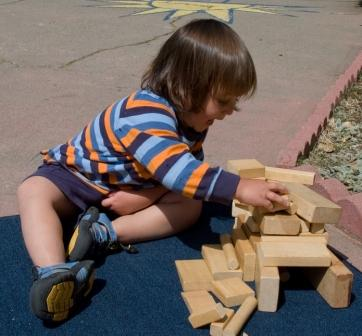 Maddox with blocks